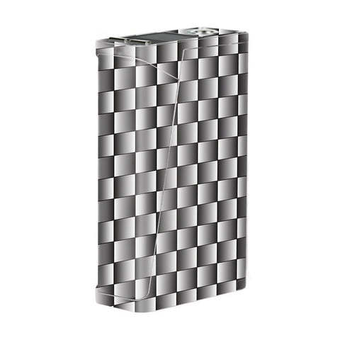 White Grey Carbon Fiber Look Smok H-Priv Skin