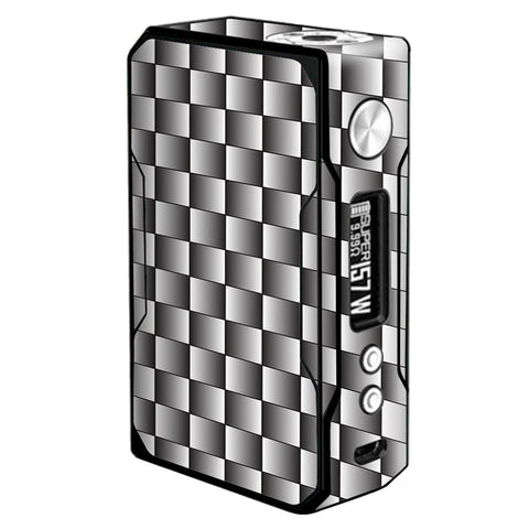 White Grey Carbon Fiber Look Voopoo Drag 157w Skin