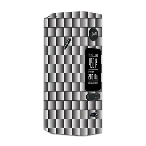White Grey Carbon Fiber Look Wismec Reuleaux RX 2/3 combo kit Skin