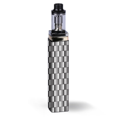 White Grey Carbon Fiber Look Artery Lady Q Skin