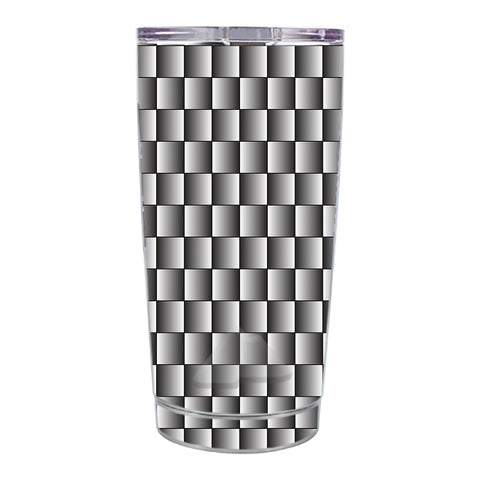 Skin Decal For Ozark Trail 20 Oz White Grey Carbon Fiber Look Ozark Trail 20oz Tumbler Skin