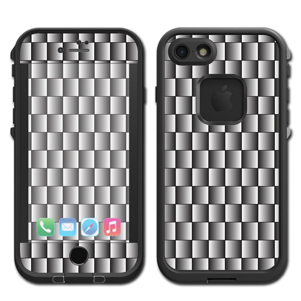 another chance 3e4de 26ed8 White Grey Carbon Fiber Look Lifeproof Fre iPhone 7 or iPhone 8 Skin