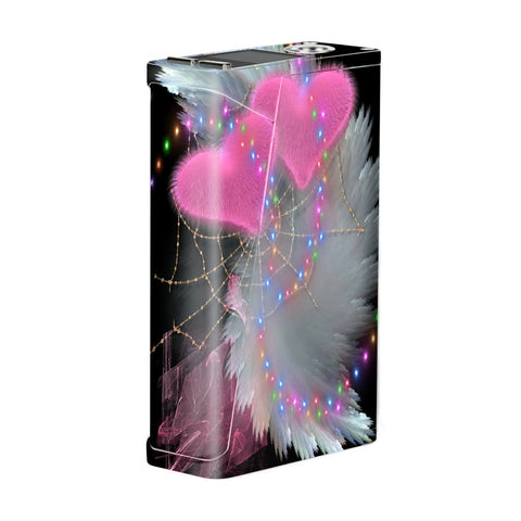 Mystic Pink Hearts Feathers Smok H-Priv Skin