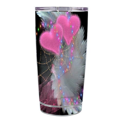 Skin Decal For Ozark Trail 20 Oz Mystic Pink Hearts Feathers Ozark Trail 20oz Tumbler Skin