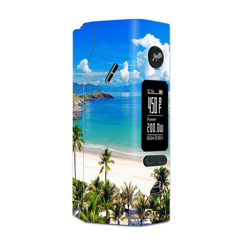 Tropical Paradise Palm Trees Wismec Reuleaux RX 2/3 combo kit Skin