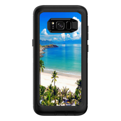 Tropical Paradise Palm Trees Otterbox Defender Samsung Galaxy S8 Plus Skin