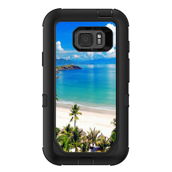 quality design 54b4d 97172 Tropical Paradise Palm Trees Otterbox Defender Samsung Galaxy S7 Active Skin