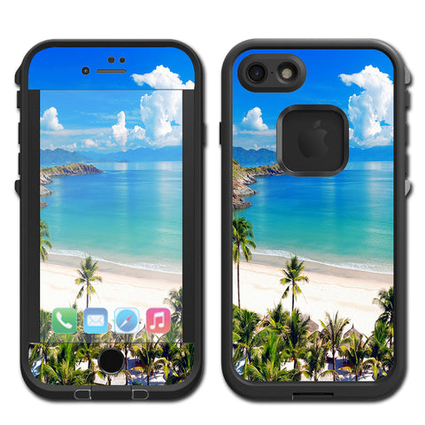 Tropical Paradise Palm Trees Lifeproof Fre iPhone 7 or iPhone 8 Skin