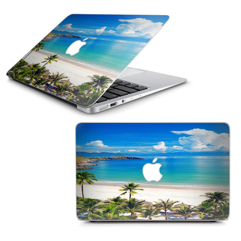 "Tropical Paradise Palm Trees Macbook Air 13"" A1369 A1466 Skin"