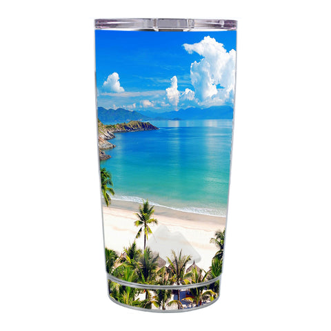 Skin Decal For Ozark Trail 20 Oz Tropical Paradise Palm Trees Ozark Trail 20oz Tumbler Skin