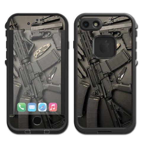 Edc Ar Pistol Gun Knife Military Lifeproof Fre iPhone 7 or iPhone 8 Skin