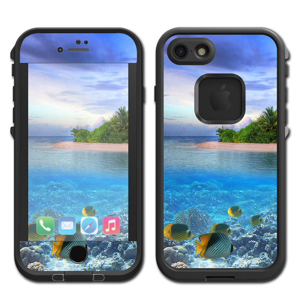 cheap for discount 17744 b4f58 Underwater Snorkel Tropical Fish Island Lifeproof Fre iPhone 7 or iPhone 8  Skin