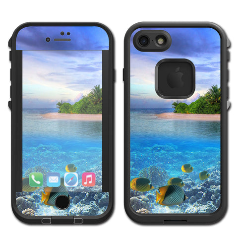 Underwater Snorkel Tropical Fish Island Lifeproof Fre iPhone 7 or iPhone 8 Skin