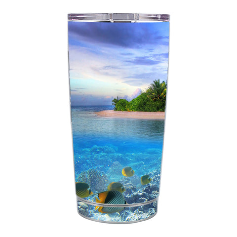Skin Decal For Ozark Trail 20 Oz Underwater Snorkel Tropical Fish Island Ozark Trail 20oz Tumbler Skin