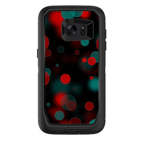 Red Blue Circles Dots Vision Otterbox Defender Samsung Galaxy S7 Edge Skin