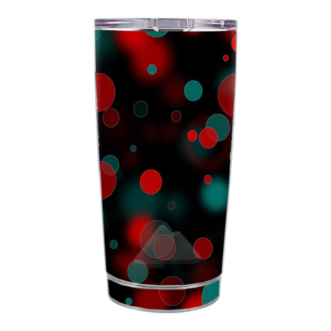 Skin Decal For Ozark Trail 20 Oz Red Blue Circles Dots Vision Ozark Trail 20oz Tumbler Skin