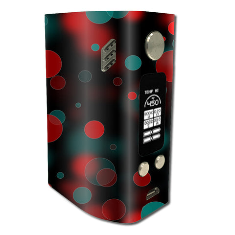 Red Blue Circles Dots Vision Wismec Reuleaux RX300 Skin