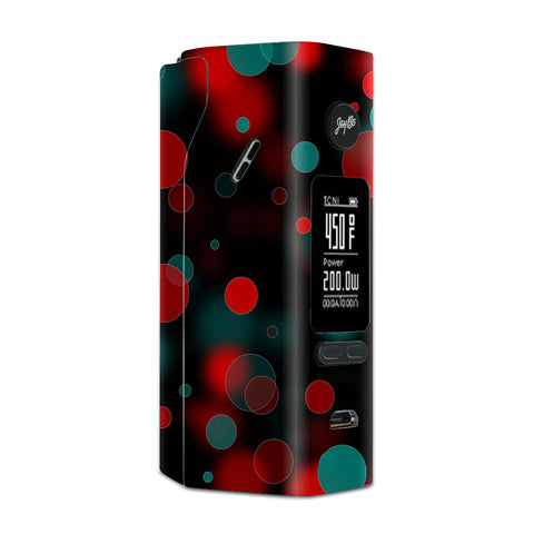 Red Blue Circles Dots Vision Wismec Reuleaux RX 2/3 combo kit Skin