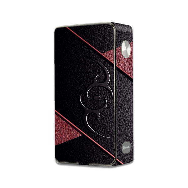 Black Red Leather Hindu Om Like Symbol Laisimo L3 Touch Screen Skin