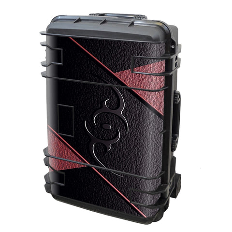 Black Red Leather Hindu Om Like Symbol Seahorse Case Se-920 Skin