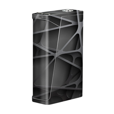 Black Metal Web Panels Smok H-Priv Skin