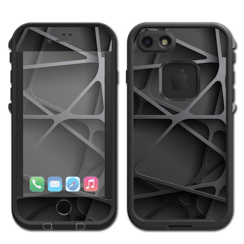 Black Metal Web Panels Lifeproof Fre iPhone 7 or iPhone 8 Skin