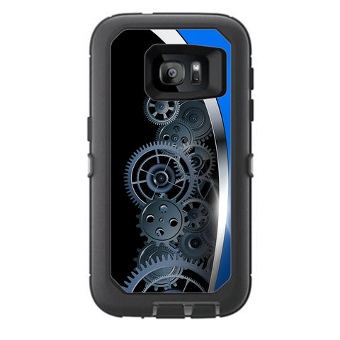 Mechanical Gears Motion Otterbox Defender Samsung Galaxy S7 Skin