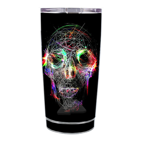 Skin Decal For Ozark Trail 20 Oz Skull Wild Line Electric Ozark Trail 20oz Tumbler Skin