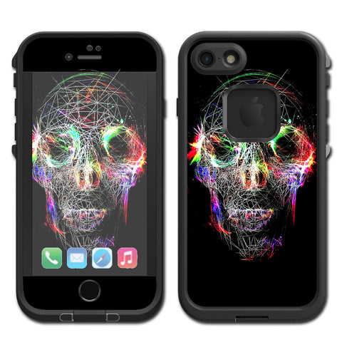 Skull Wild Line Electric Lifeproof Fre iPhone 7 or iPhone 8 Skin