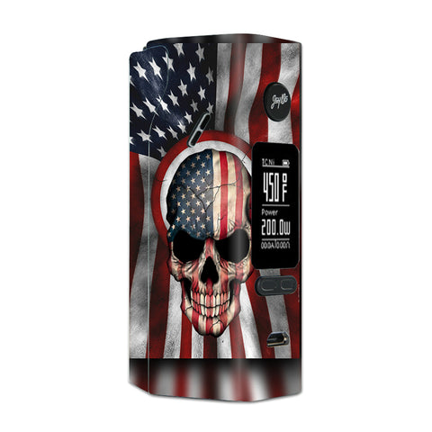 America Skull Military Usa Murica Wismec Reuleaux RX 2/3 combo kit Skin