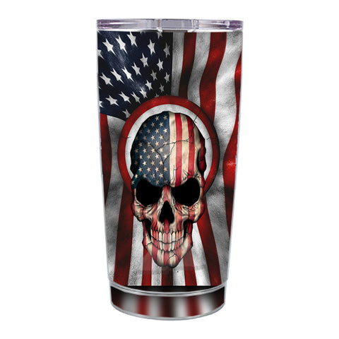 Skin Decal For Ozark Trail 20 Oz America Skull Military Usa Murica Ozark Trail 20oz Tumbler Skin