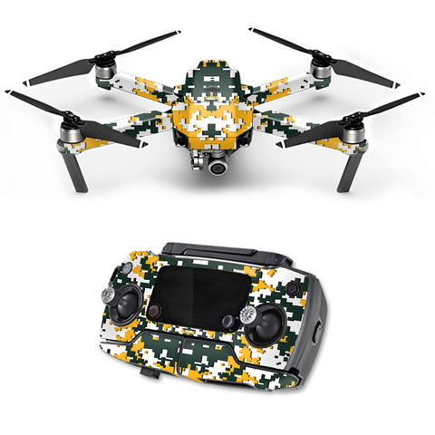 Digital Camo Green Bay Packers DJI Mavic Pro Skin