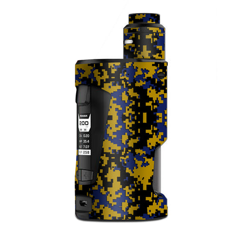Digi Camo Sports Teams Colors Digital Camouflage Blue Gold G Box Squonk Geek Vape Skin