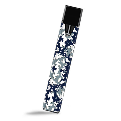 Digi Camo Sports Teams Colors Digital Camouflage Blue Silver Smok Fit Ultra Portable Skin