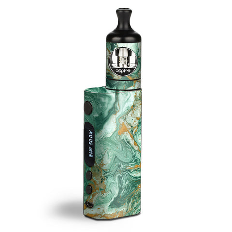 Marble Paint Swirls Green Aspire Zelos Skin