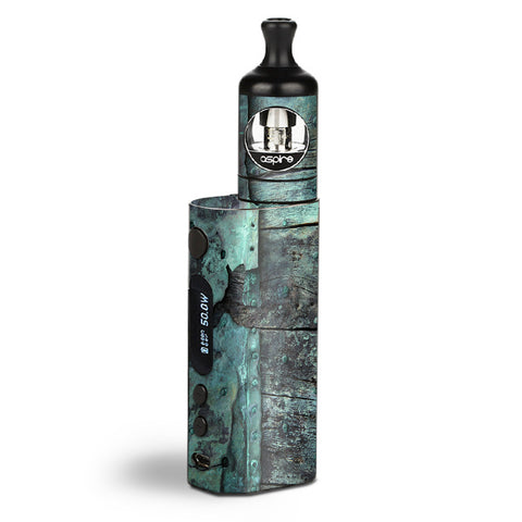 Patina Metal And Wood Blue Aspire Zelos Skin