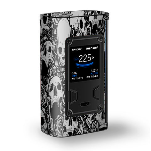Skulls N Roses Black White Screaming Majesty Smok Skin