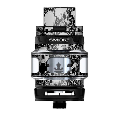 Skulls N Roses Black White Screaming Prince TFV12 Tank Smok Skin