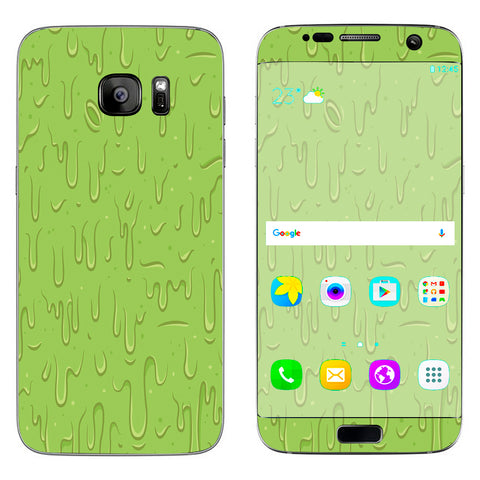 Dripping Cartoon Slime Green Samsung Galaxy S7 Edge Skin