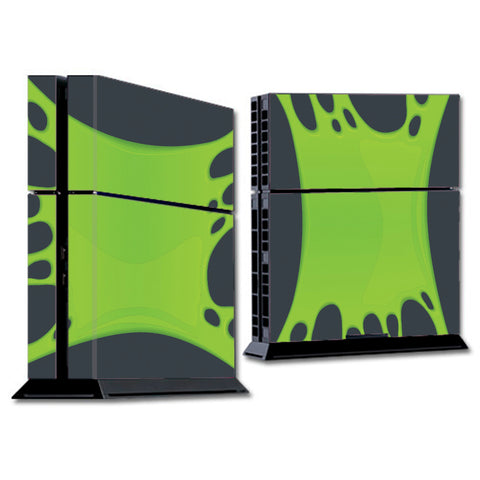 Stretched Slime Green Sony Playstation PS4 Skin