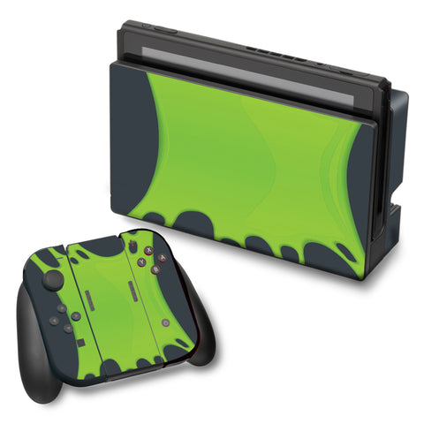 Stretched Slime Green Nintendo Switch Skin