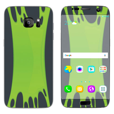 Stretched Slime Green Samsung Galaxy S7 Edge Skin