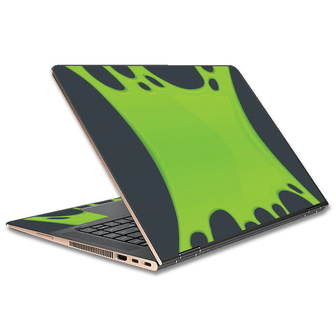 Stretched Slime Green HP Spectre x360 13t Skin
