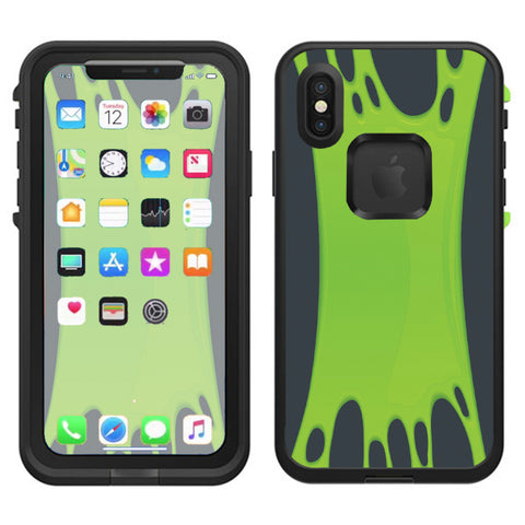 Stretched Slime Green Lifeproof Fre Case iPhone X Skin