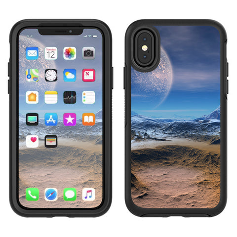 Space Planet Moon Surface Outerspace Otterbox Defender Apple iPhone X Skin