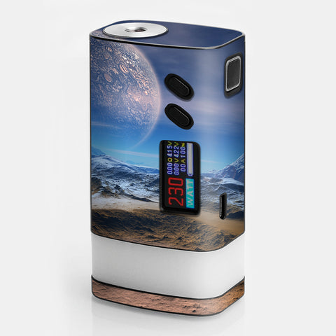 Space Planet Moon Surface Outerspace Sigelei Fuchai Glo 230w Skin