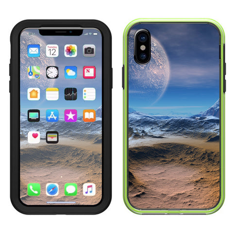 Space Planet Moon Surface Outerspace Lifeproof Slam Case iPhone X Skin
