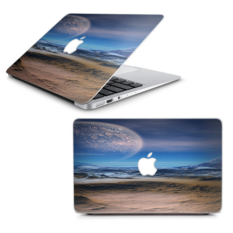 "Space Planet Moon Surface Outerspace Macbook Air 11"" A1370 A1465 Skin"