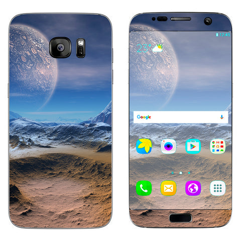 Space Planet Moon Surface Outerspace Samsung Galaxy S7 Edge Skin