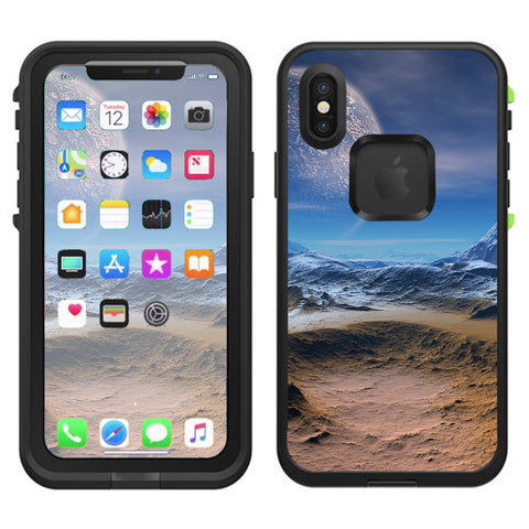 Space Planet Moon Surface Outerspace Lifeproof Fre Case iPhone X Skin